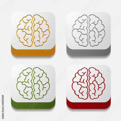 square button: brain