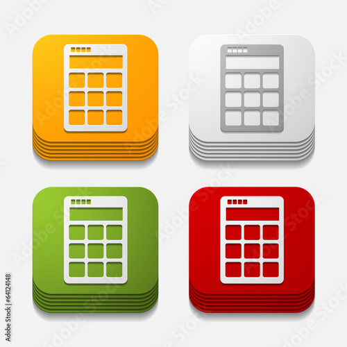 square button: calculator