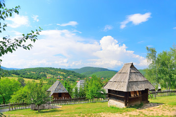 Sirogojno, Serbia, medieval old traditional village