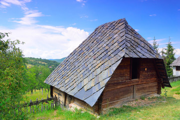 Old traditional wooden house in Balkans