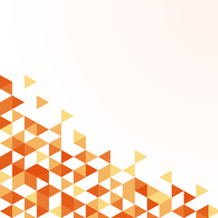 summer orange triangle pattern background