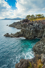 Jeju Island seashore Jusangjeollidae South Korea