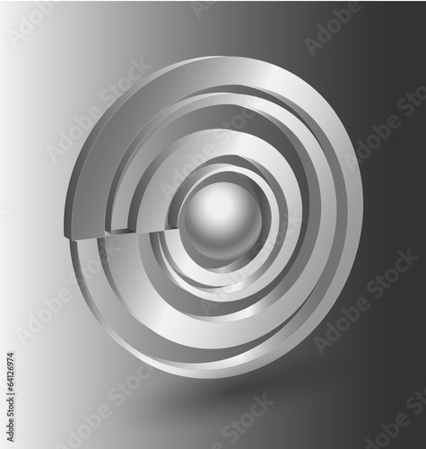 Abstract  3D shape icon