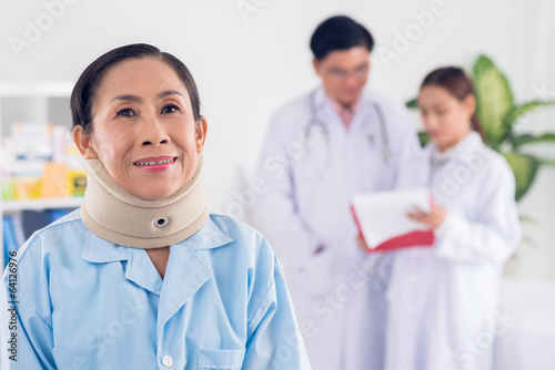 Woman at accident hospital
