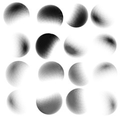 Abstract halftone circle design. EPS 10