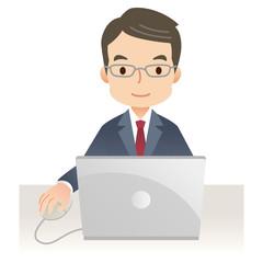 ビジネスマン PC
