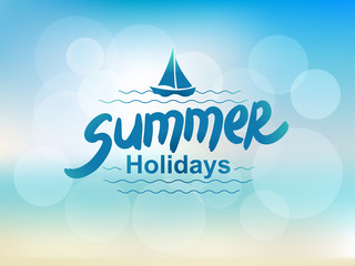 Summer holidays - typographic design