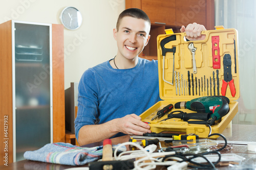 Man with working tools
