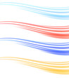 Colorful abstract swoosh wave dividers collection