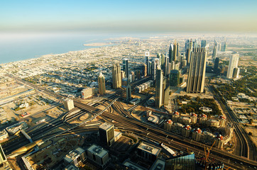 Downtown of Dubai (UAE) in the morning