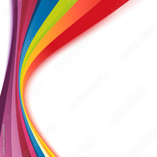 Bright rainbow swoosh lines stripes abstract