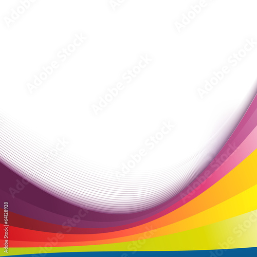 Colorful abstract bright rainbow wave lines