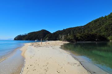 Banc de sable dans le Parc Abel Tasman.