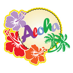 Aloha Hawaii beach travel concept
