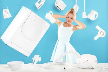 Dom na głowie - matka, żona, gospodyni - praca w domu