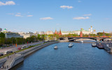 Moscow decorated to  Victory Day, view of  Kremlin