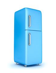 Modern refrigerator over white