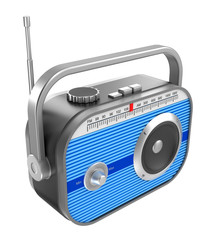 Retro radio over white