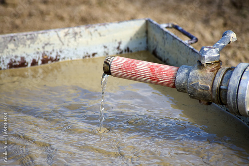 Watering container for agricultural irrigation