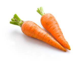 Carrot isolated. Organic vegetable