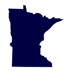map of the U.S. state of Minnesota