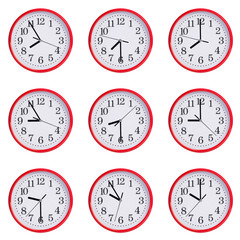 Clock shows the time from eight to ten