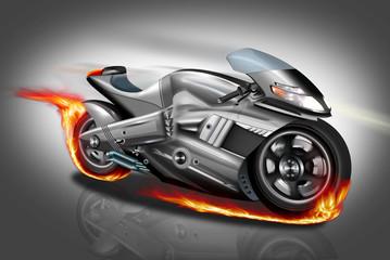 Ghostrider in Flammen