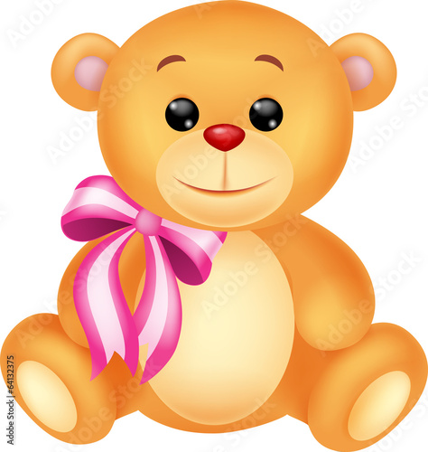 Cute bear cartoon sitting