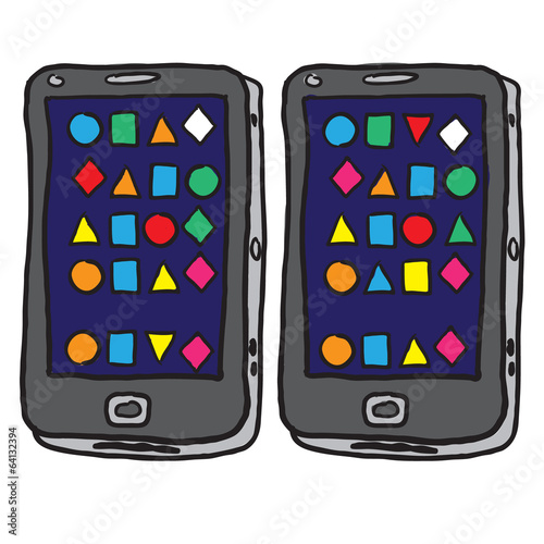 Smartphone, mobile phone isolated, vector illustration.