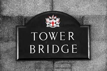 Street Sign of Tower Bridge