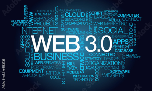 Web 3.0 semantic W3C internet technologies things word tag cloud