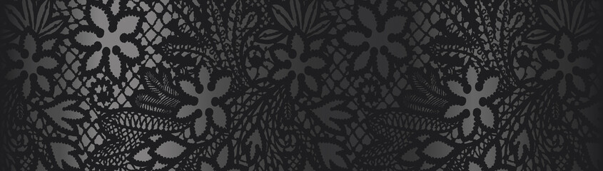 Black background with lace pattern