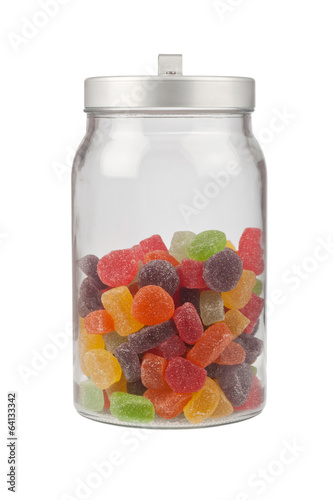 Jar of gummy candy