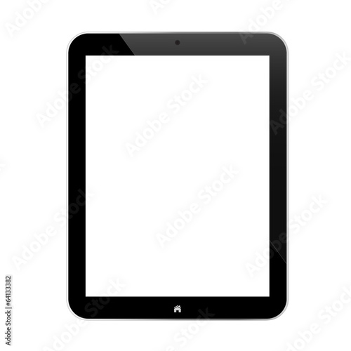Black Business Tablet With Blank Screen