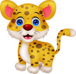 Funny leopard cartoon