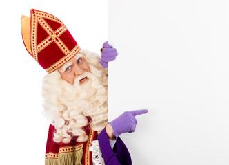 Sinterklaas with placard