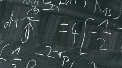 Animation Of Equations On A School Blackboard