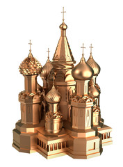 Gold Cathedral in Moscow