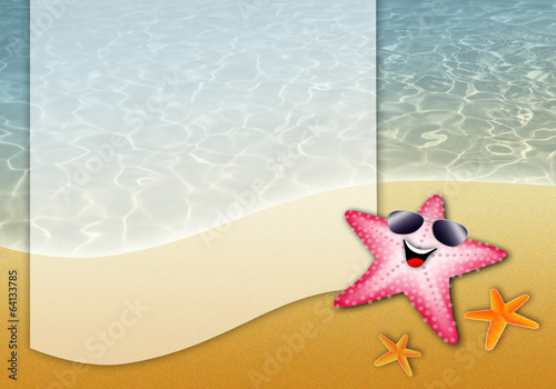 illustration of starfish on the beach