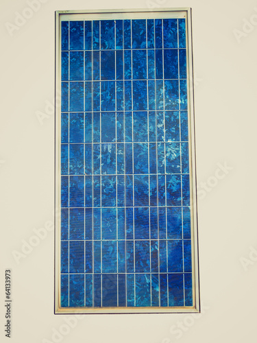 Retro look Solar cell panel