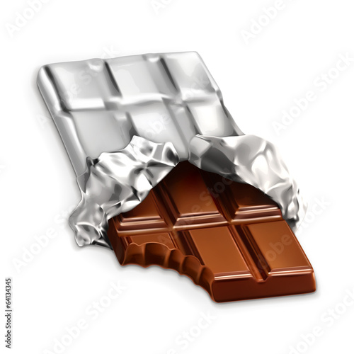 Chocolate bar, vector illustration