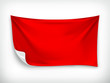 Red cloth banner, vector illustration