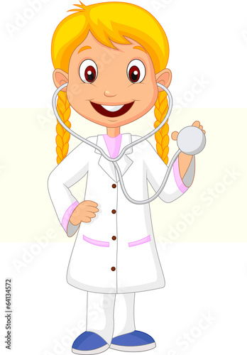 Little girl wearing nurse costume
