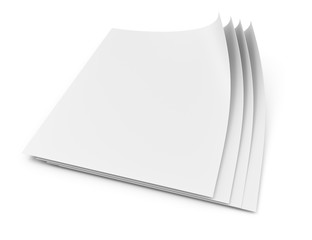 Blank paper pages