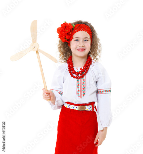 ukrainian girl in national...