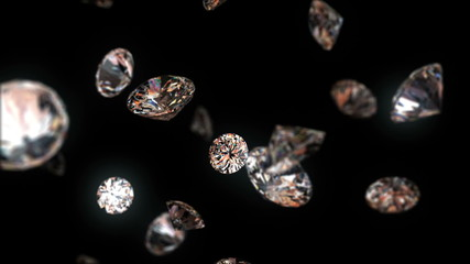 falling diamonds, beautiful background. seamless loop