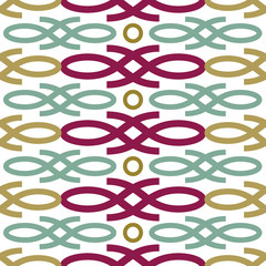 Contemporary colorful loop seamless pattern