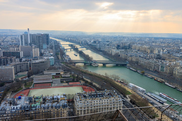 Panorama of Paris from Eiffel tower