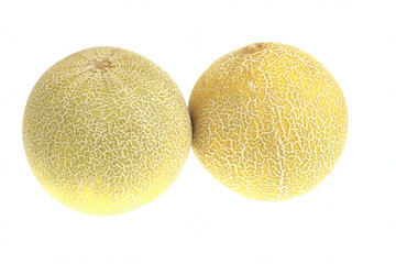 Pair of ripe melon