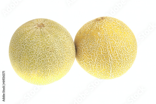 Pair of ripe melon